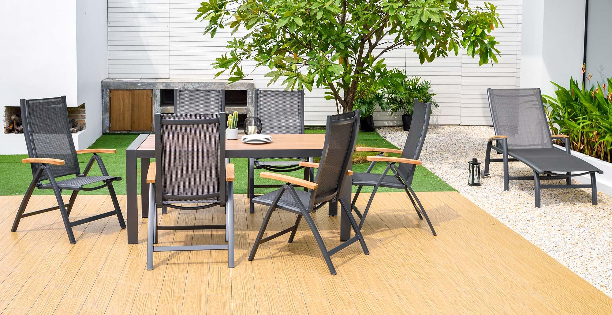 Hliníkový záhradný nábytok